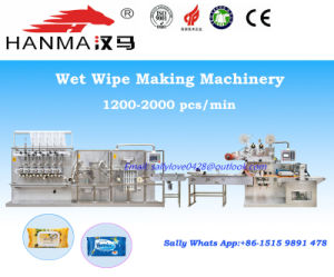 Automatic Wet Tissue Manufacturing Machine, Wet Wipes Production Line Hm-F680A