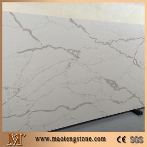 Artificial Quartz Calacatta White Quartz Slab for Countertop pictures & photos