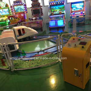 White Electric Mini Rail Train Slot Game Machine for Kids pictures & photos