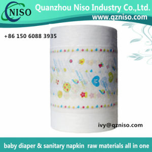 Center Laminated PE Film Nonwoven Fabric for Baby Diaper Backsheet Cloth-Like Nonwoven pictures & photos