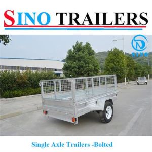 Single Axle Bolted Cage Trailers