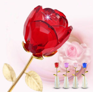 Original Crystal Glass Rose Flower for Gift pictures & photos