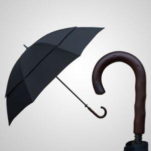 Double Layer Golf Umbrella Regular Manual Umbrella pictures & photos
