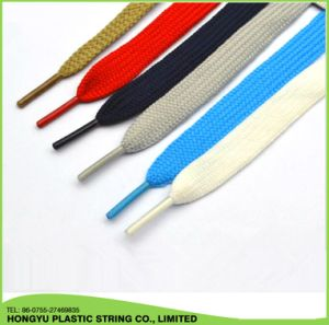 High Quality Polyester Flat Shoelace pictures & photos