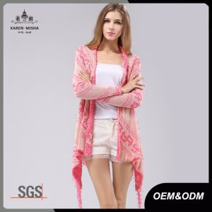 Blush Ladies Knitwear Cardigan with Tassels pictures & photos