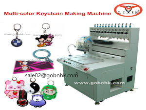 Automatic PVC Dispensing Machine for Rubber Badge pictures & photos