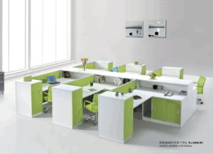 Modern Design Straight Work-Station with 6 Person Seats Partition pictures & photos