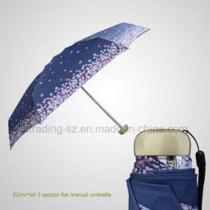 5 Folding Manual Super Mini Flat Rain/Sun Umbrella (JF-MQT-505) pictures & photos