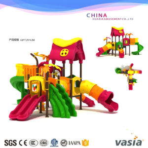 Plastic Slide for Children Outdoor Playground Made in China Vs2-170222-33 pictures & photos