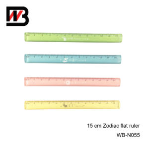 Color Zodiac Plastic Ruler for School and Office Stationery