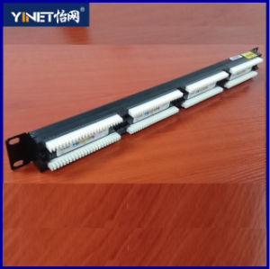 Cat5e Patch Panel Unshielded UTP 24 Port Patch Panel High Quality (HSC-2055212-24) pictures & photos