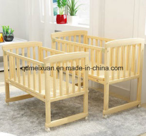 Solid Wood Crib Children Children Bed Wooden Bed Change Desk Cradle Bed Nets Can Stick a Card (M-X3703) pictures & photos