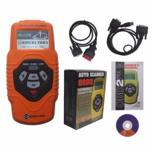 Quicklynks T55 Obdii Scanner Free Update on Internet Engine/Airbag/ABS/Auto Trans Tool Multilingual pictures & photos