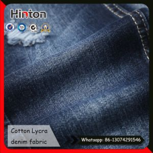 Strong Elastic Twill Cotton Denim Fabric for Jeans pictures & photos