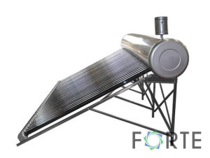 Stainless Steel Low Pressure Vacuum Tube Solar Water Heating System pictures & photos