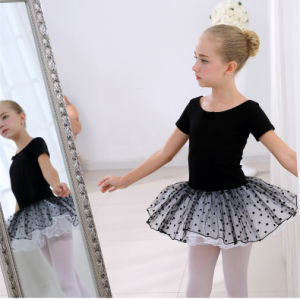 High Quality Custom Black Chiffon Organza Children′s Ballet Costumes of Dance Skirt pictures & photos