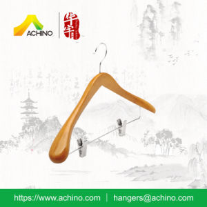 Deluxe Clothes Hangers with Adjustable Chrome Clips (ACH211) pictures & photos