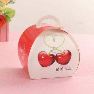 Cute Design Pink Color Plastic Window Take Away Cake Box pictures & photos