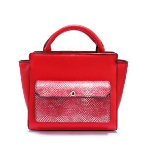 Fashion Brand Western Trendy Women Handbag Python Satchel Multi Tone Large Tote Bag pictures & photos