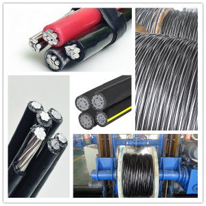 Quadruplex Service Drop Cable XLPE Insulated Overhaed AAC Conductor pictures & photos