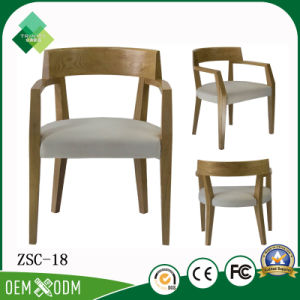 Professional Custom Dining Room Chair Wooden Armchair for Sale (ZSC-18) pictures & photos
