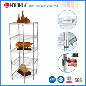 Modern Chrome Pentagon Corner Storage Rack for Home Use (CJ6868120A4C) pictures & photos