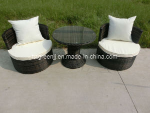 3 Pieces Stackable Chat Set Conversation Sofa Outdoor Furniture pictures & photos
