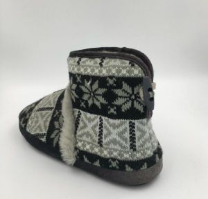 Lds Fashion Multi Warm Indoor Slipper