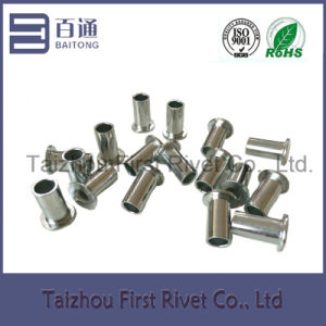 8X16mm Zinc Plated Flat Head Full Tubular Steel Rivet pictures & photos