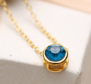 Fashion Alloy Rhinestone Plastic Small Beads Gold 916 Fashion Jewelry Necklace pictures & photos