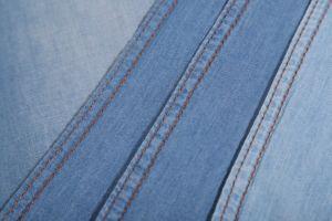 Slub Slim Indigo Lady Garment Washed 4oz Denim Fabric for Jeans pictures & photos