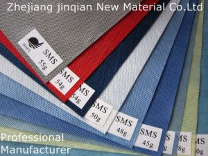 Indigo Blue SMS Nonwoven Fabric for Disposable Anti-Static Surgical Gown pictures & photos