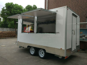 Ice Cream Fibreglass Caravan Mobile Kebab Van Mobile Food Trucks pictures & photos