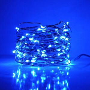 IP65 Waterproof Tiny Micro LED String DIY Creative Fairy Lights 16.4 FT 50 Mini LED Blue Color