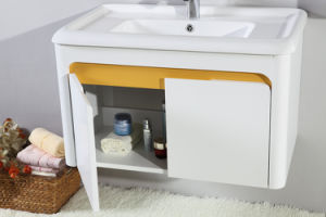 Best Selling MDF White Lacquer Bathroom Cabinet Furniture pictures & photos