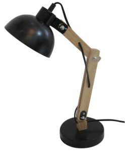 Adjustable Wood Table Lamp