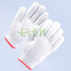 Soft White Cotton Gloves / Construction Work Gloves/ Garden Gloves pictures & photos