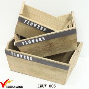 Vintage Zinc Wooden Antique Indoor Square Planter Flower Pots pictures & photos