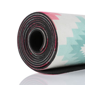 Non-Slip Natural Tree Rubber Yoga Mat with Customized Printing pictures & photos