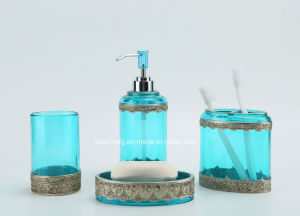 Metallic Hand Paint Super Clear Polyresin Bathroom Accessory pictures & photos