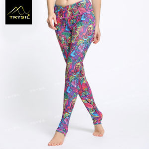 Complicated Printed Long Legging Yoga Foot Pants pictures & photos
