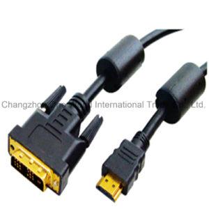 HDMI 19pin Plug-DVI Plug Digital Cable pictures & photos