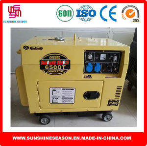 Diesel Power Generator Air Cooled 5kw Silent Type SD6500t pictures & photos