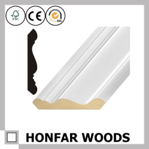 Decoration Material MDF Primed Crown Cornice Moulding pictures & photos