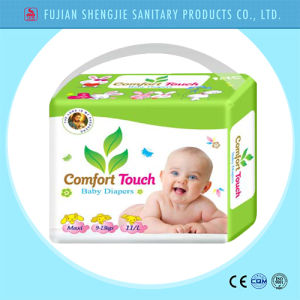 OEM Magic Tape Cloth Like Cover Smart Disposable Baby Diaper pictures & photos
