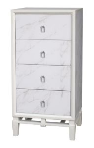 Office Furniture Marble White Wooden Cabinet with Metal Handle pictures & photos