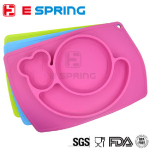 Baby Feeding Table Mat Snail Shape Silicone Food Tray