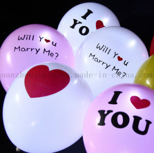 OEM Print Logo LED Glow Latex Balloon for Valentine Party pictures & photos