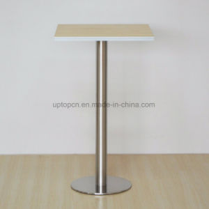 Commercial Wooden Top Restaurant Bar Table with High Metal Leg (SP-BT716) pictures & photos