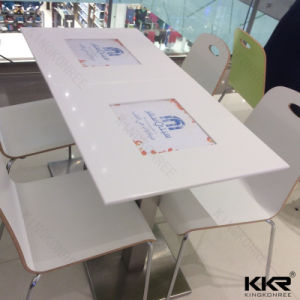 Restaurant Furniture Square Solid Surface Stone Marble Dining Table (T1705220) pictures & photos